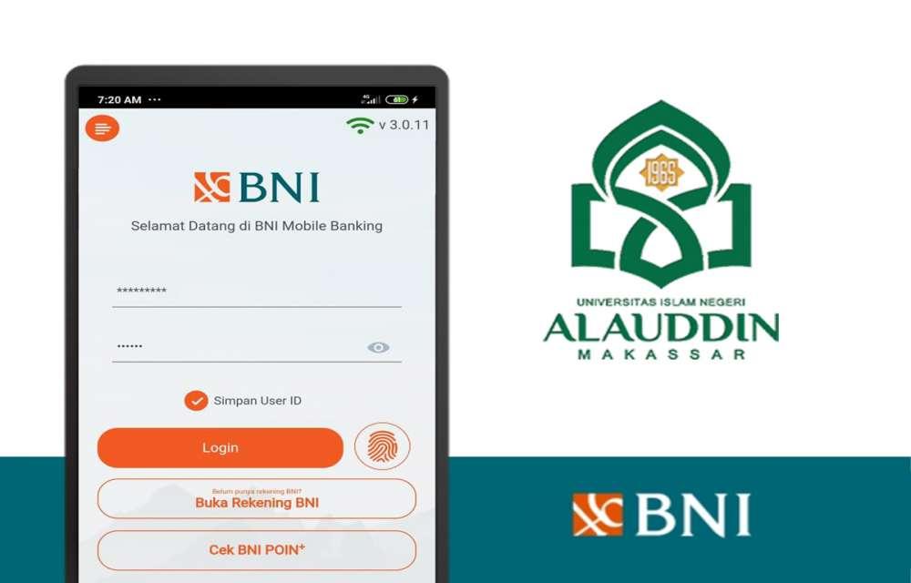 Ilustrasi Cara pembayaran SPP UIN Alauddin Makassar Melalui BNI Mobile Banking